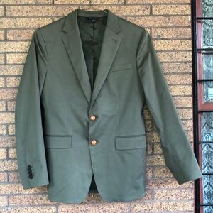 Banana Republic Slim Olive Blazer Rapid Movement